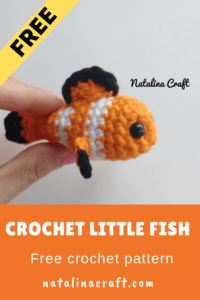 crochet fish in a jar