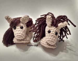 crochet horse pattern booties