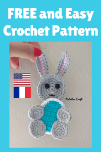 Free crochet pattern Applique Bunny