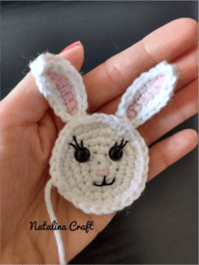 crochet bunny head