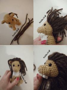 crochet lion mane