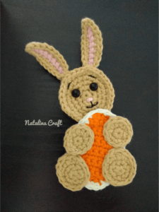 crochet easter applique