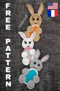 Free crochet pattern: Applique Easter bunny