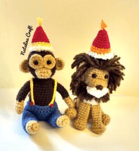 crochet circus animals