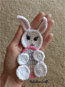 Free crochet pattern Applique Easter Bunny