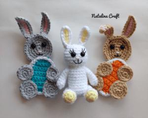 Free crochet pattern Applique Easter Bunny