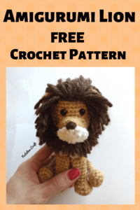 Free crochet pattern Amigurumi Lion