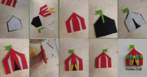 how to make a felt circus tent