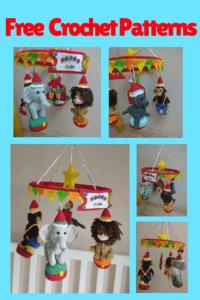 Circus crochet baby mobile