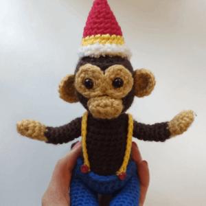 crochet monkey circus