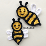 applique bee crochet