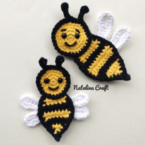applique bee crochet