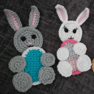 crochet applique bunny