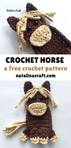 crochet horse applique