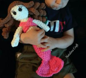 crochet large mermaid