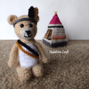 crochet tribal bear