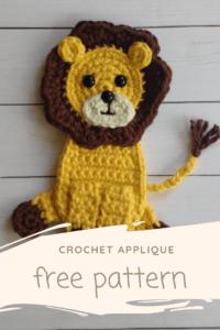Applique Crochet lion