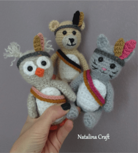 tribal crochet toy
