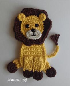 lion applique crochet pattern