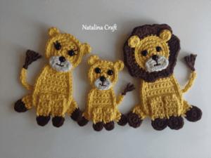 lion king crochet applique pattern