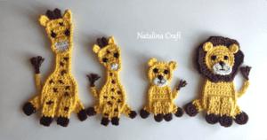 lion king crochet applique