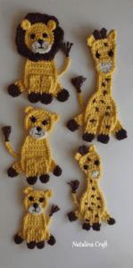 safari crochet applique