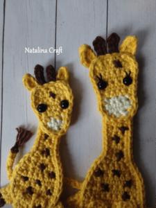 crochet applique giraffe