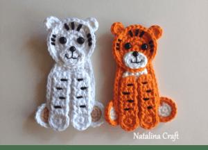 crochet pattern tiger applique