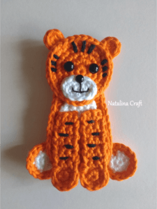 free crochet pattern tiger applique