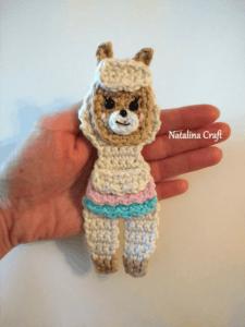 crochet llama pattern applique