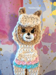 crochet llama applique