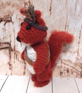 crochet tribal squirrel