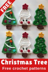 crochet applique christmas