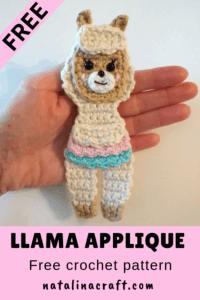 crochet pattern llama applique