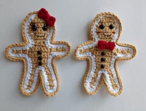 crochet gingerbread man applique