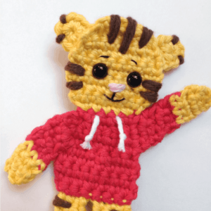 Crochet Daniel Tiger applique