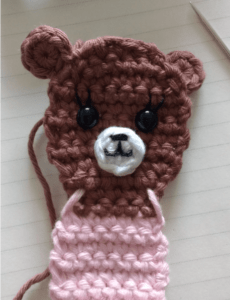 crochet applique bear