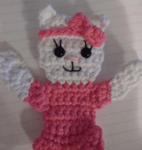 kitty crochet applique