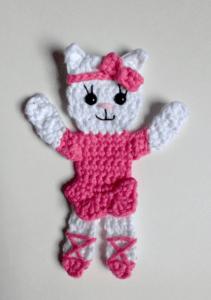 crochet applique kitty