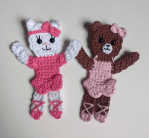 crochet ballerina applique