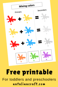 Learning colors free printable