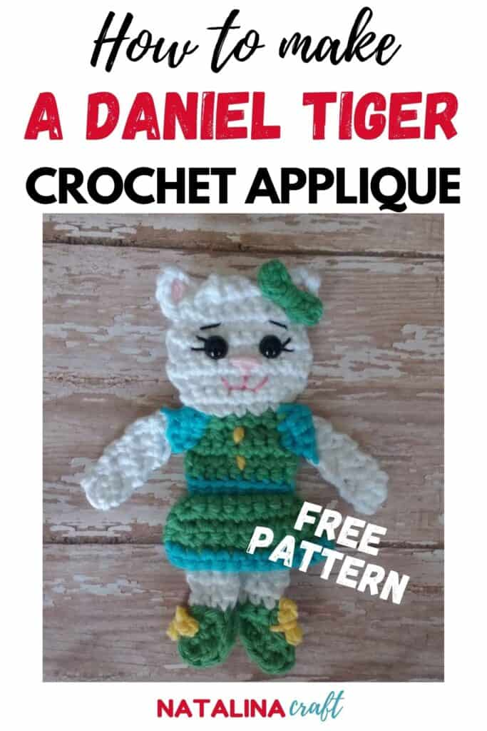 Pin showing how to crochet a katerina applique