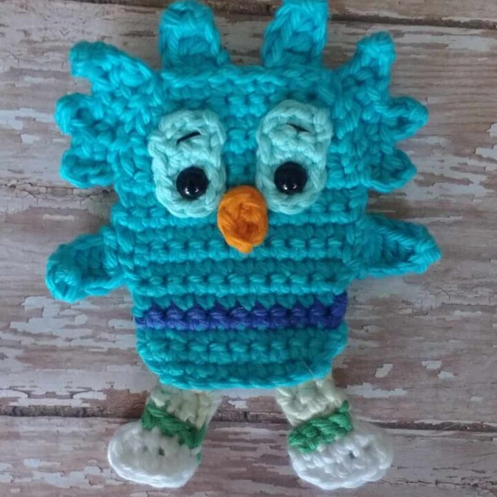 Crochet Applique - Daniel Tiger: Owl